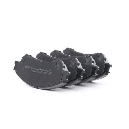 Bremsbelagsatz, Scheibenbremse Breite 1: 141,9mm, Höhe 1: 55mm, Dicke/Stärke 1: 15,8mm mit OEM-Nummer 55810 61M 01