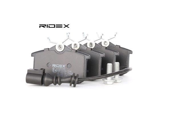 RIDEX Bremsekloss TOYOTA bakaksel, inkl. slitasjevarselkontakt