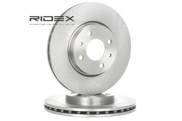 RIDEX Remschijf Vooras, Binnen geventileerd, Zonder wielnaaf, Zonder wielbevestigingsbout