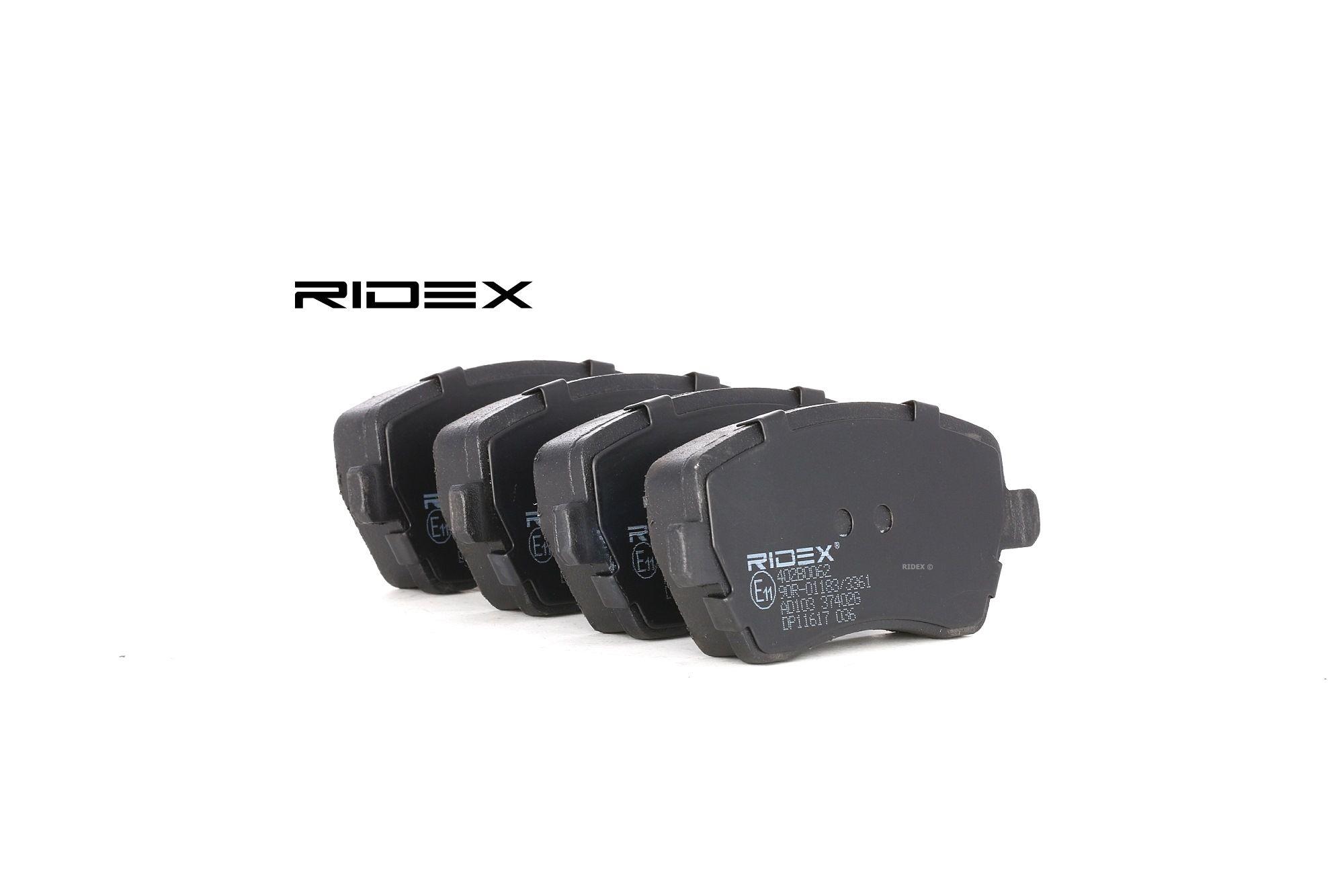 Bremsbelagsatz RIDEX 402B0062 Bewertung