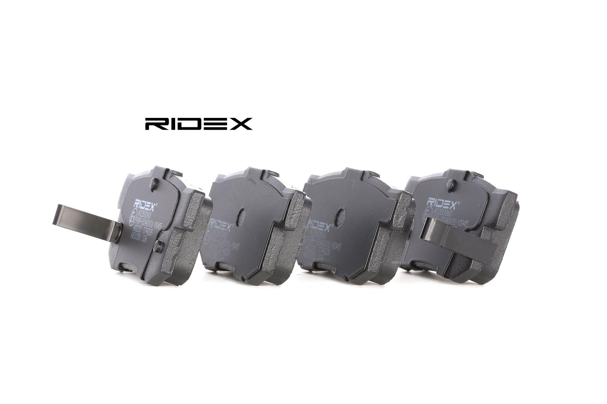 Disk brake pads RIDEX 402B0060 rating