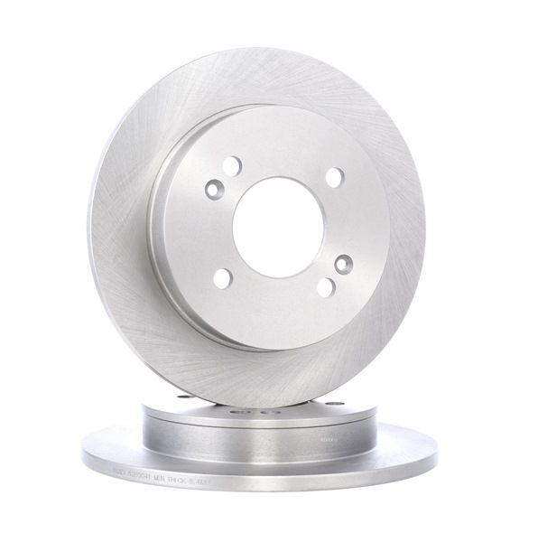 Brake discs and rotors RIDEX 7999210 Rear Axle, Solid, without wheel hub, without wheel studs