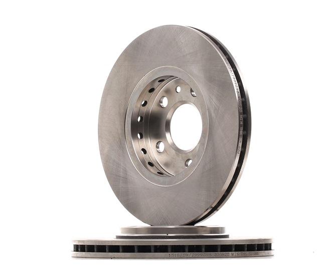 Brake discs and rotors RIDEX 7999398 Front Axle, Internally Vented, Uncoated