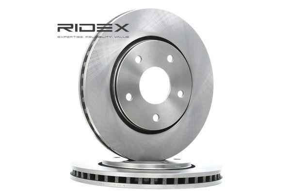 RIDEX Remschijven CHRYSLER Vooras, Buiten geventileerd, Zonder wielnaaf, Zonder wielbevestigingsbout