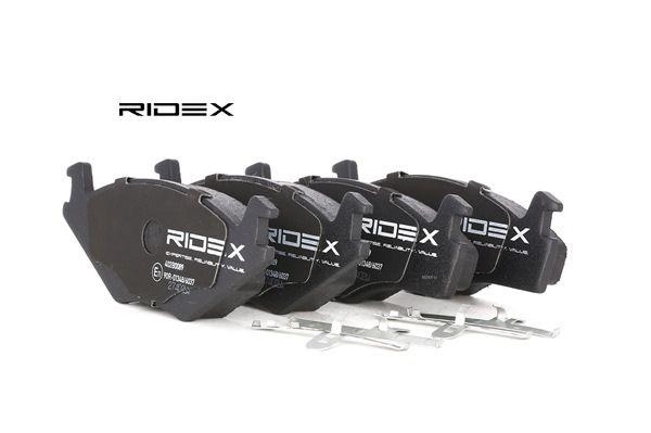 RIDEX Vorderachse, mit Anti-Quietsch-Blech 402B0089