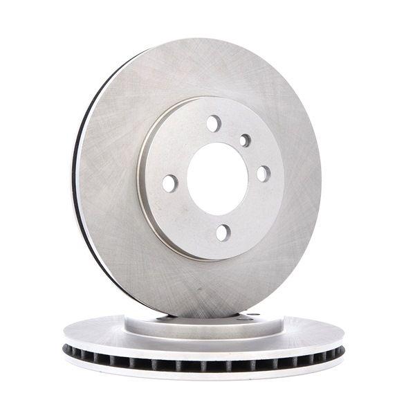 Frenos de disco RIDEX 7999555 Eje delantero, Ventilación interna, sin recubrimiento, sin buje de rueda, sin perno de sujeción de rueda