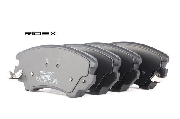 RIDEX 402B0296 Bremsekloss