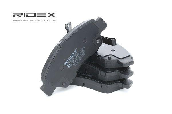 Juego de pastillas de freno RIDEX 7999605 Eje delantero, con avisador acústico de desgaste, Chapa antichirridos