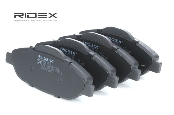Disk brake pads RIDEX 7999616 Front Axle, excl. wear warning contact