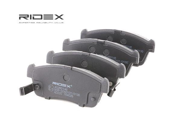 RIDEX Bremsekloss SUZUKI framaksel, inkl. slitasjevarselkontakt, med antihyle blikk, Front