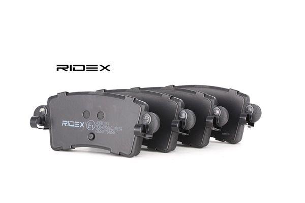 RIDEX Bremsbelagsatz Scheibenbremse 402B0167