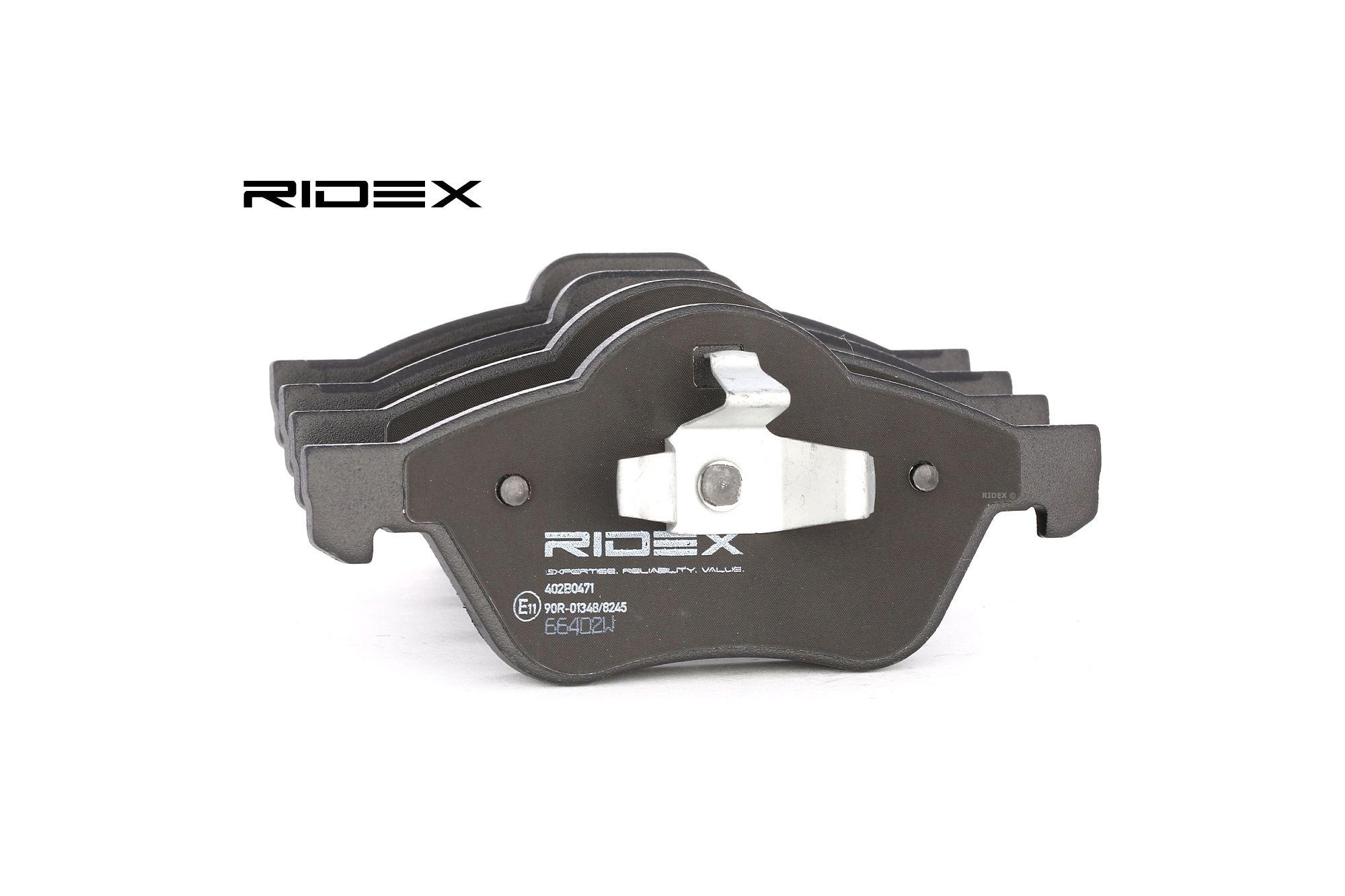 Disk brake pads RIDEX 402B0471 rating