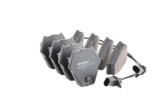 RIDEX 402B0222 Brake pad set disc brake