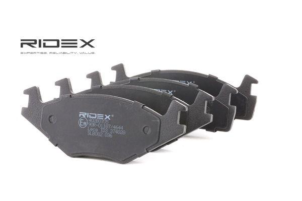 RIDEX Bremseklosser framaksel, ekskl. slitasjevarselkontakt, med montageanvisning
