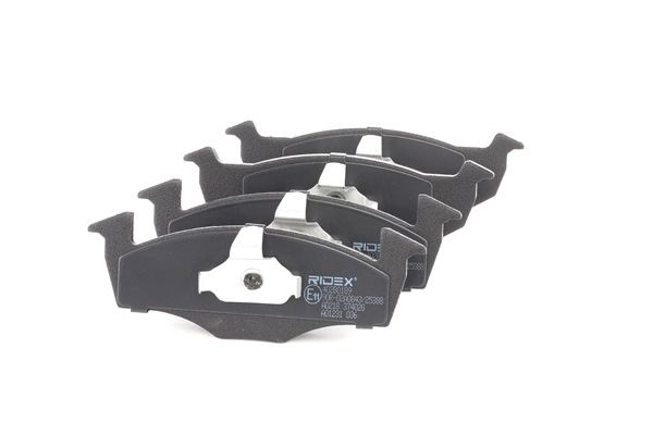 RIDEX Bremseklosser framaksel, ekskl. slitasjevarselkontakt, med montageanvisning, med antihyle blikk, med kolbleklips