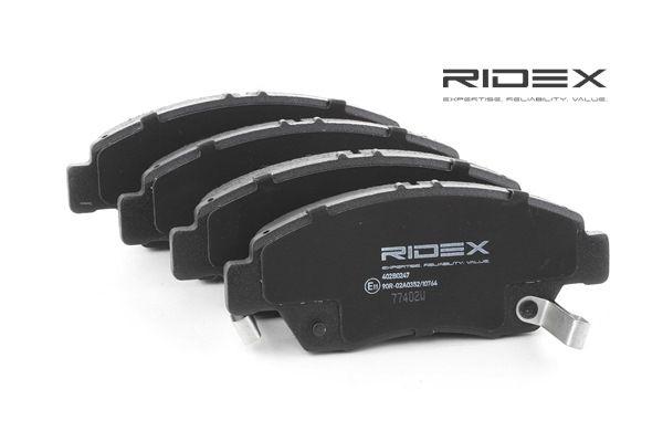 Juego de pastillas de freno RIDEX 8000039 Eje delantero, con avisador acústico de desgaste
