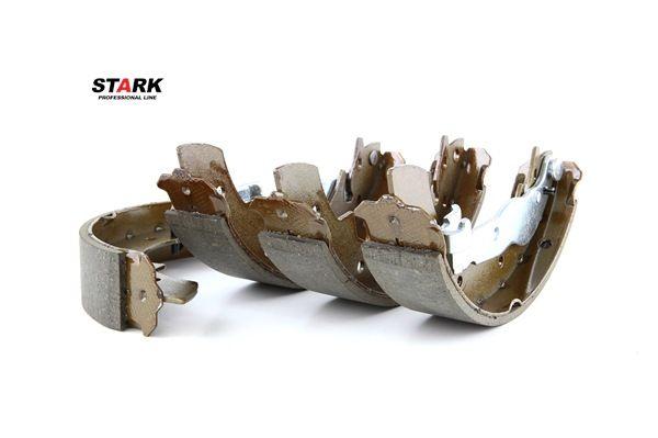 Forros de freno STARK 8001728 Eje trasero, Ø: 228,6mm, con palanca