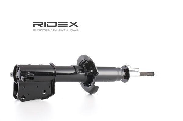RIDEX Vorderachse, Zweirohr, Gasdruck, Federbein, oben Stift, unten Schelle 854S0346