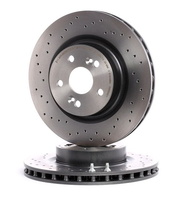 BREMBO COATED DISC LINE Frenos de disco RENAULT Perforado/ventil. int., revestido, altamente carbonizado, con tornillos