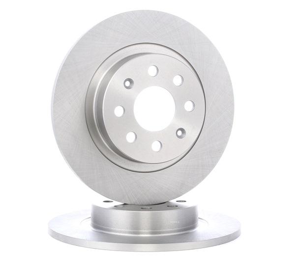 Frenos de disco RIDEX 8013752 Eje trasero, Macizo