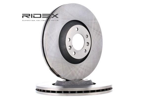 Frenos de disco RIDEX 8017759 Eje delantero, ventilación externa, sin buje de rueda, sin perno de sujeción de rueda