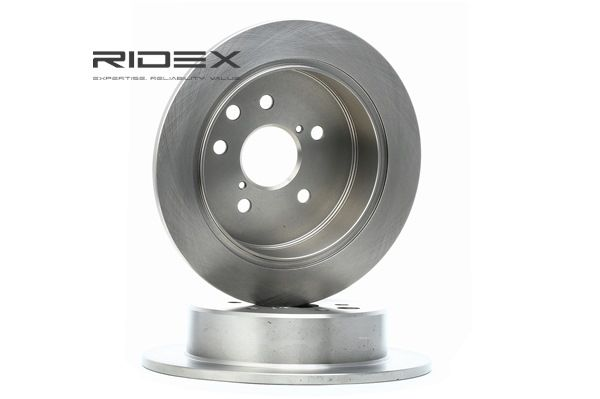 Brake discs and rotors RIDEX 8040068 Rear Axle, Solid, without wheel hub, without wheel studs