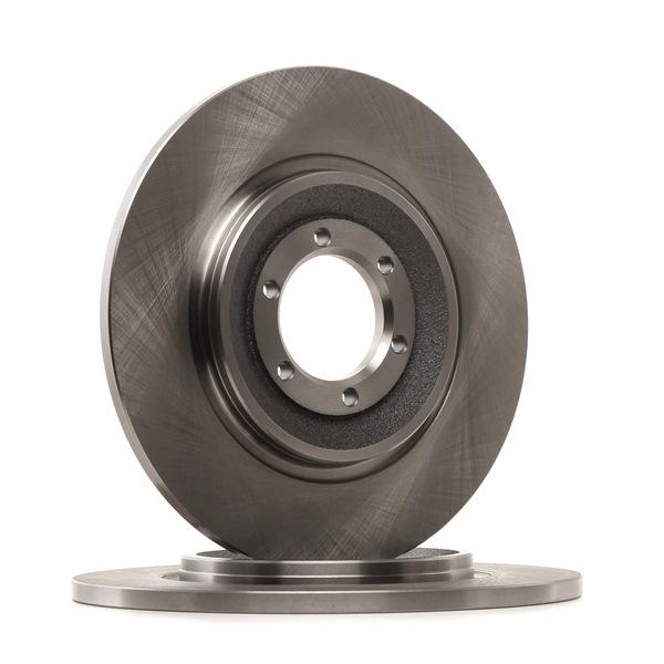 RIDEX Brake disc kit Rear Axle, Solid
