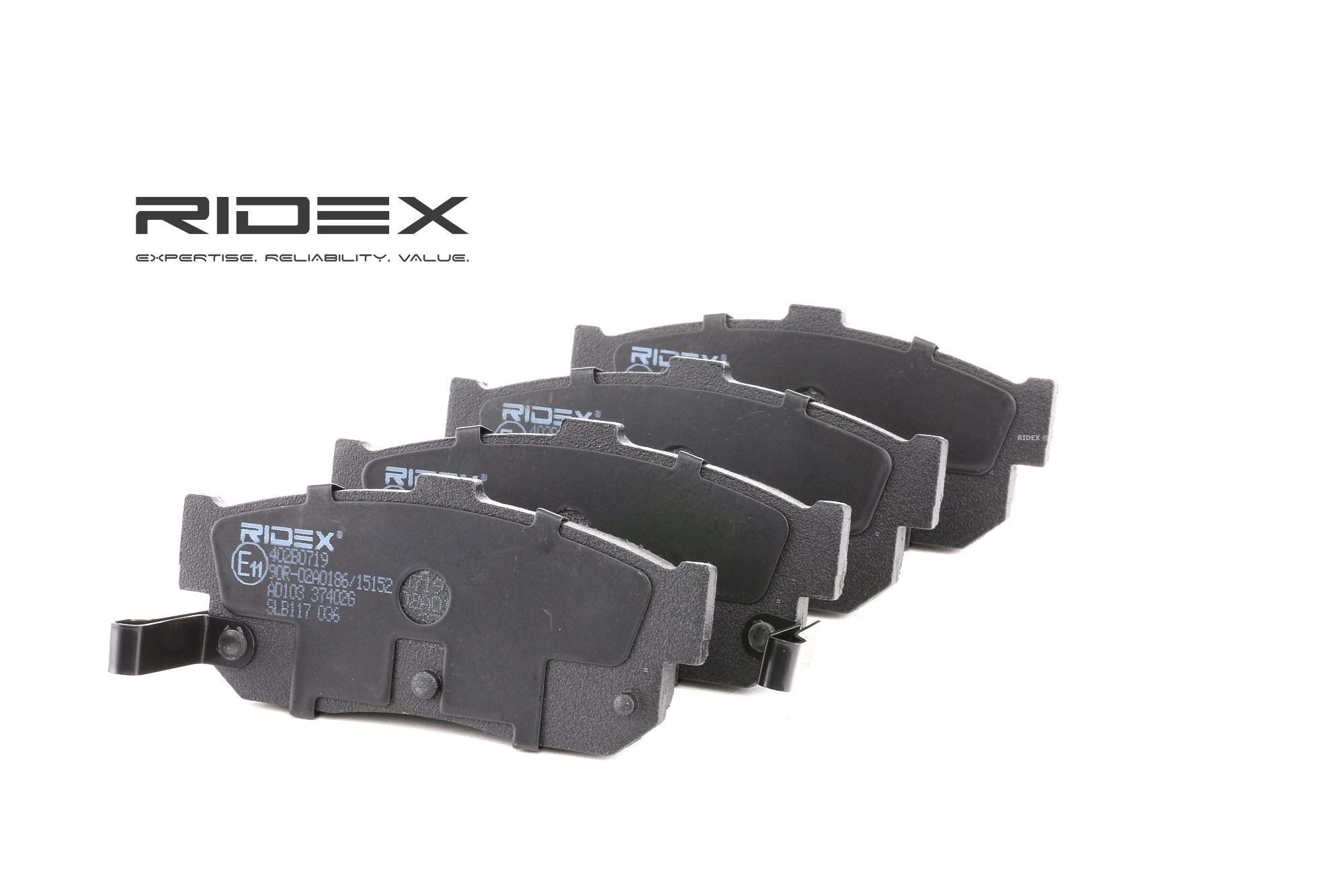Bremsbelagsatz RIDEX 402B0719 Bewertung