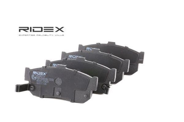Juego de pastillas de freno RIDEX 8040269 Eje trasero, con avisador acústico de desgaste