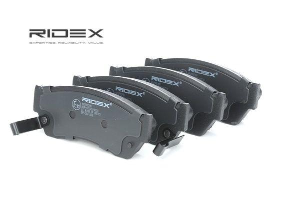 RIDEX Vorderachse, mit akustischer Verschleißwarnung 402B0208