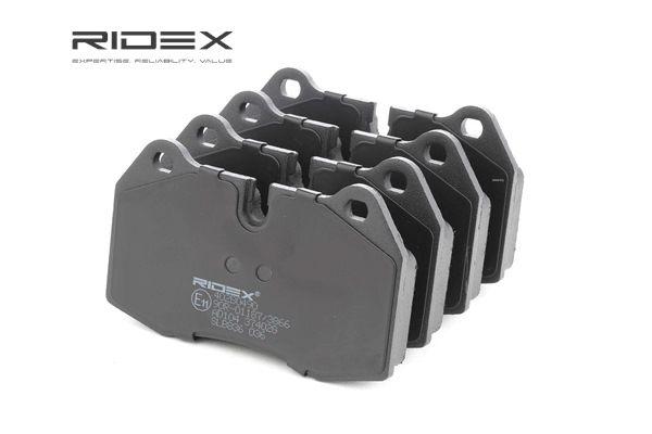 RIDEX Vorderachse, exkl. Verschleißwarnkontakt 402B0490