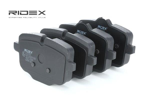 RIDEX Takajarrupalat ja etujarrupalat Huudonvaimennuspellillä