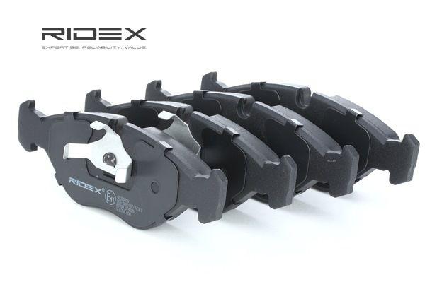 Kit pasticche freni RIDEX 8043003 Assale anteriore, Predisposto per contatto segnalazione usura, con clip pistone