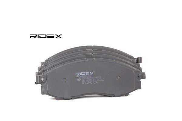 RIDEX Vorderachse, inkl. Verschleißwarnkontakt, Front 402B0737