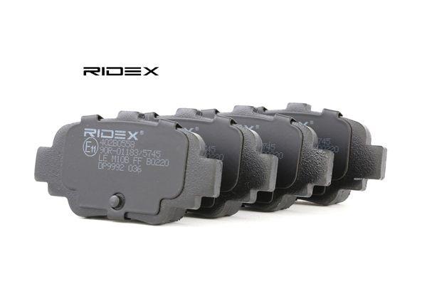 RIDEX Hinterachse, exkl. Verschleißwarnkontakt 402B0558