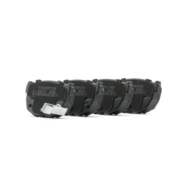 RIDEX Hinterachse, mit akustischer Verschleißwarnung 402B0899