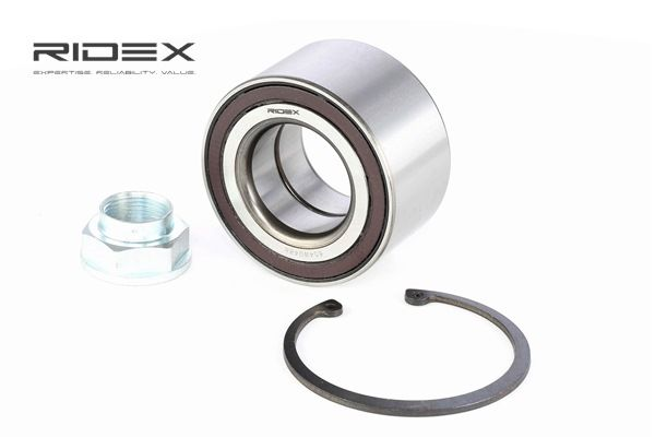 RIDEX Kerékcsapágy készlet HONDA hátsótengely, kétoldali, Első tengely kétoldali, Integrált ABS-érzékelővel