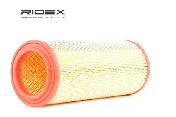 RIDEX Luchtfilter CHRYSLER Filter insert, Met traliewerk