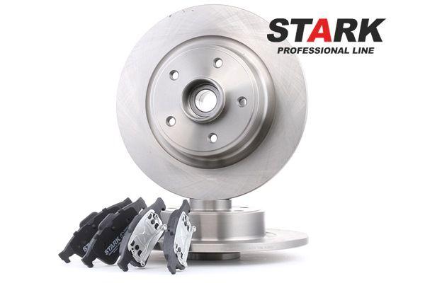 STARK Hinterachse, Voll, exkl. Verschleißwarnkontakt, mit ABS-Sensorring, mit Radlagersatz SKBK1090123