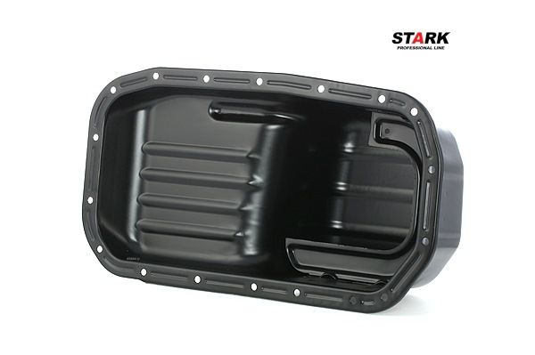Engine oil sump STARK 8059009 with oil drain plug, Sheet Steel, with seal ring, without oil sump gasket