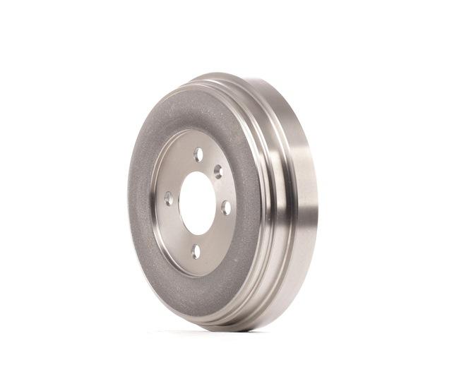 Brake drum RIDEX 8095932 Rear Axle