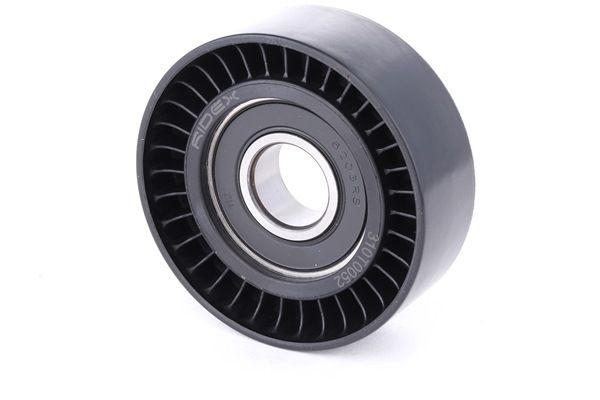 Belt tensioner pulley RIDEX 8097157 Ø: 65mm