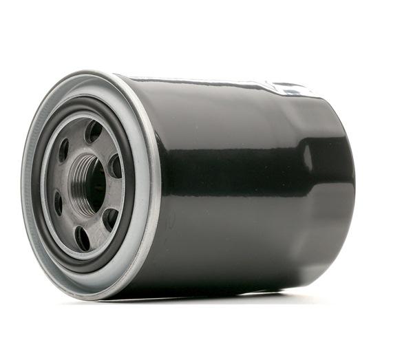 Filtro de aceite RIDEX 8097582 Filtro enroscable, con válvula bloqueo de retorno