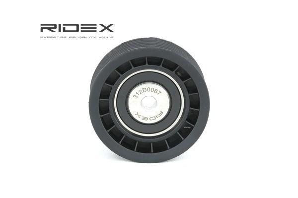 OEM Deflection / Guide Pulley, v-ribbed belt RIDEX 312D0067