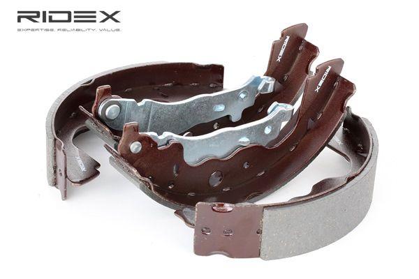 RIDEX Kit de zapatas de frenos DACIA Eje trasero, Ø: 228,6mm, sin accesorios, sin muelle, sin cilindro de freno de rueda, con palanca freno de mano