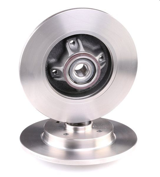 Brake discs and rotors RIDEX 8101737 Rear Axle, Solid, with integrated magnetic sensor ring, with wheel bearing