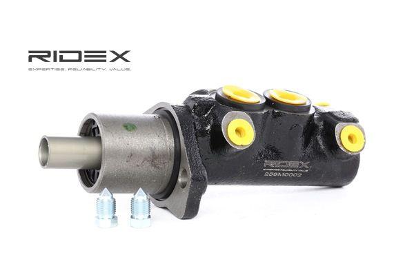 RIDEX D1: 20,6mm, Anschlussanzahl: 4, ohne Bremsflüssigkeitsbehälter 258M0002