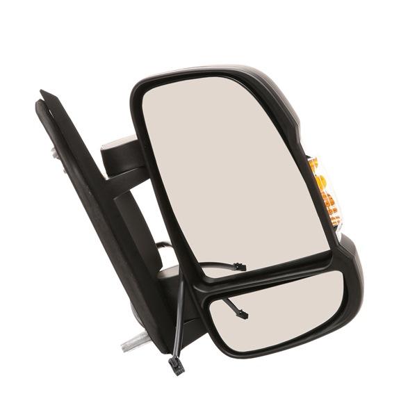 RIDEX Vnější zpětné zrcátko FIAT pravá, pro elektricky nastavitelná zrcátka, konvexní, vyhřívané, krátké raménko zrcátka, černá