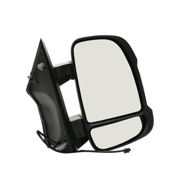 RIDEX Vnější zpětné zrcátko FIAT pravá, manuální, Kompletní zrcátko, s širokoúhlým zpětným zrcátkem, krátké raménko zrcátka, konvexní