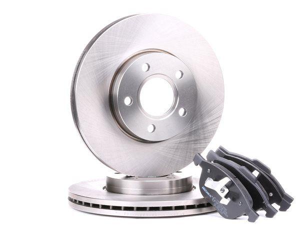 RIDEX Kit de freins, frein à disques Essieu avant, ventilé, non préparé  pour indicateur d'usure, contact de signal d'usure exclu
